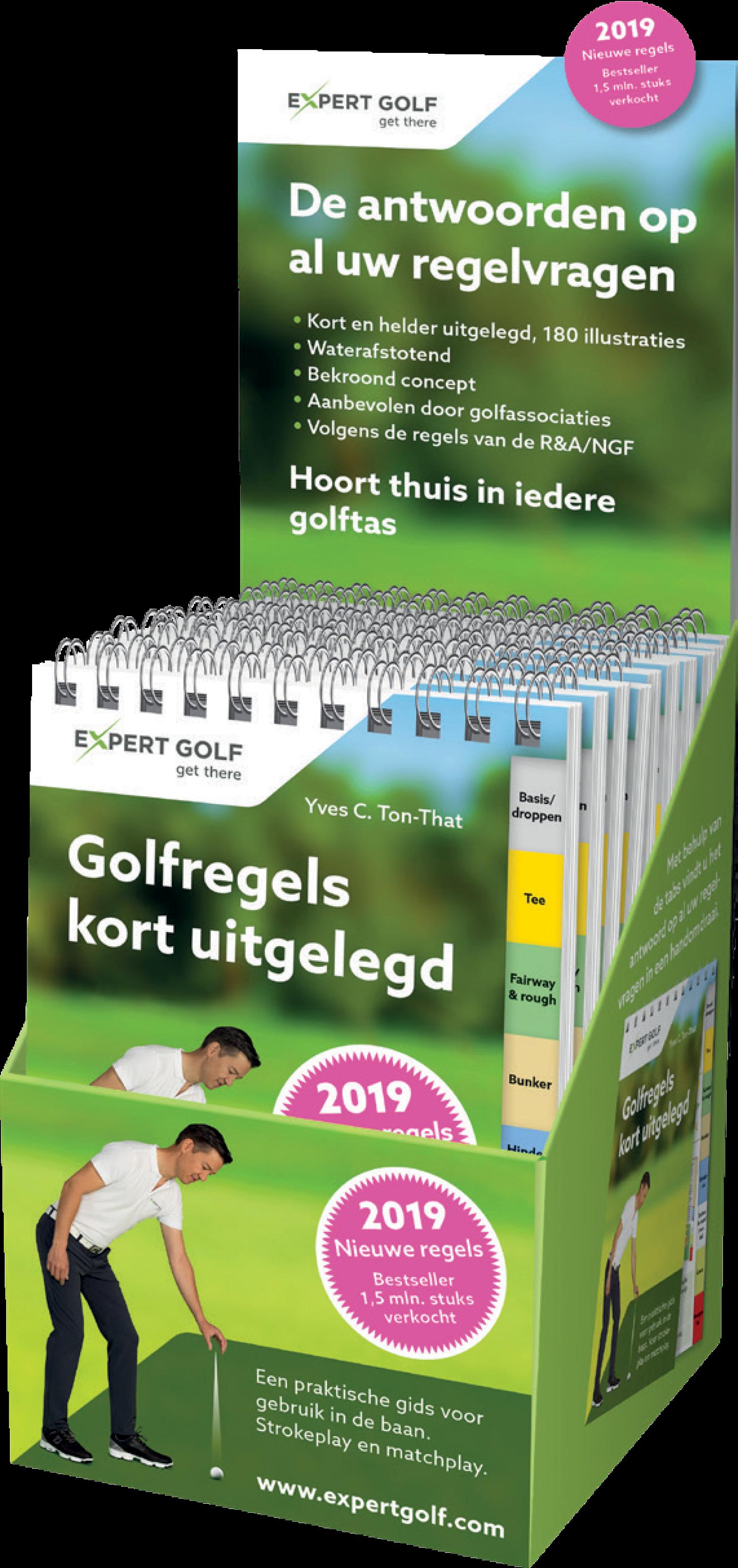 Display 10 ex. Golfregels Kort Uitgelegd 2019