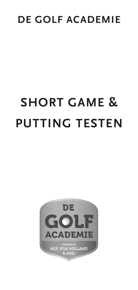 Short Game en Putting Testen - De Golf Academie (10 stuks)