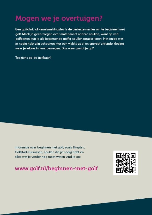 Welkom in golf - NGF actie: 50% korting, nu voor € 9,95